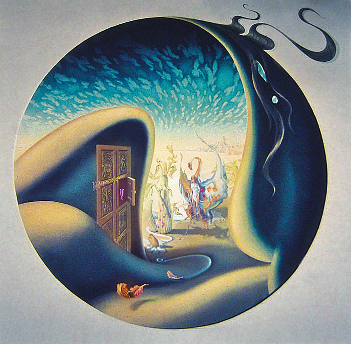 Eurythmic Dreams - Oil on board 36 x 36 inches 1973 Private Collection